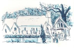 Christ Church Emery Down by Richard Bruce